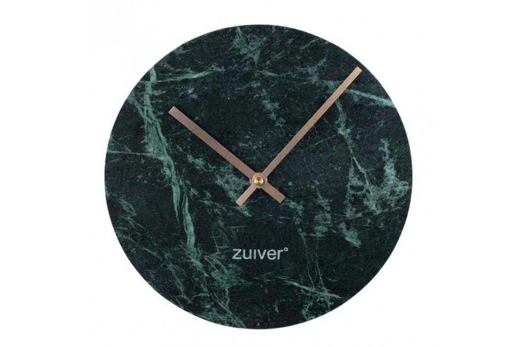 Ceas de perete din marmură Zuiver Marble Time, verde Ceasuri și alarme