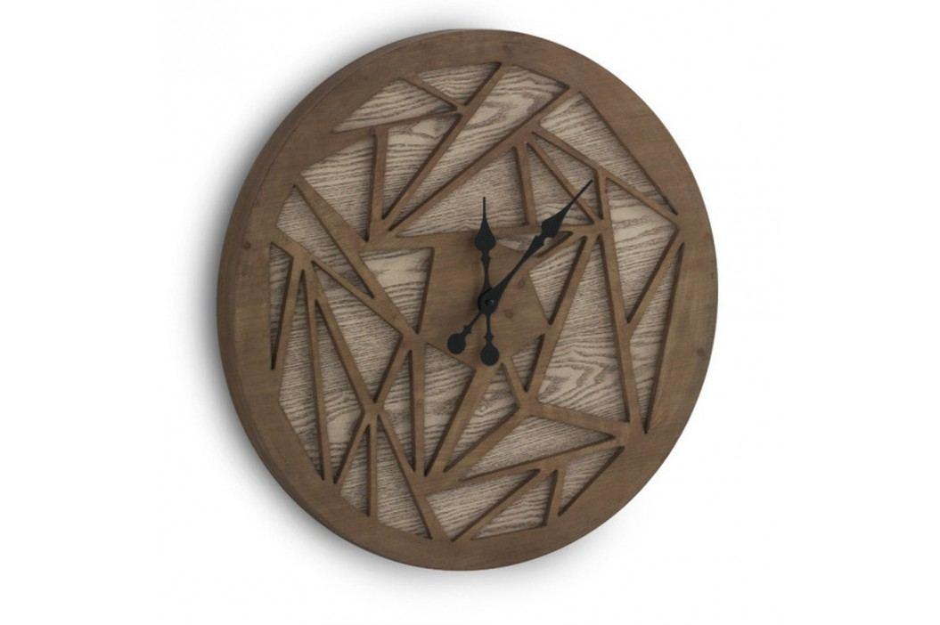 Ceas de perete Geese Time Traveller, Ø 60 cm, maro Ceasuri și alarme