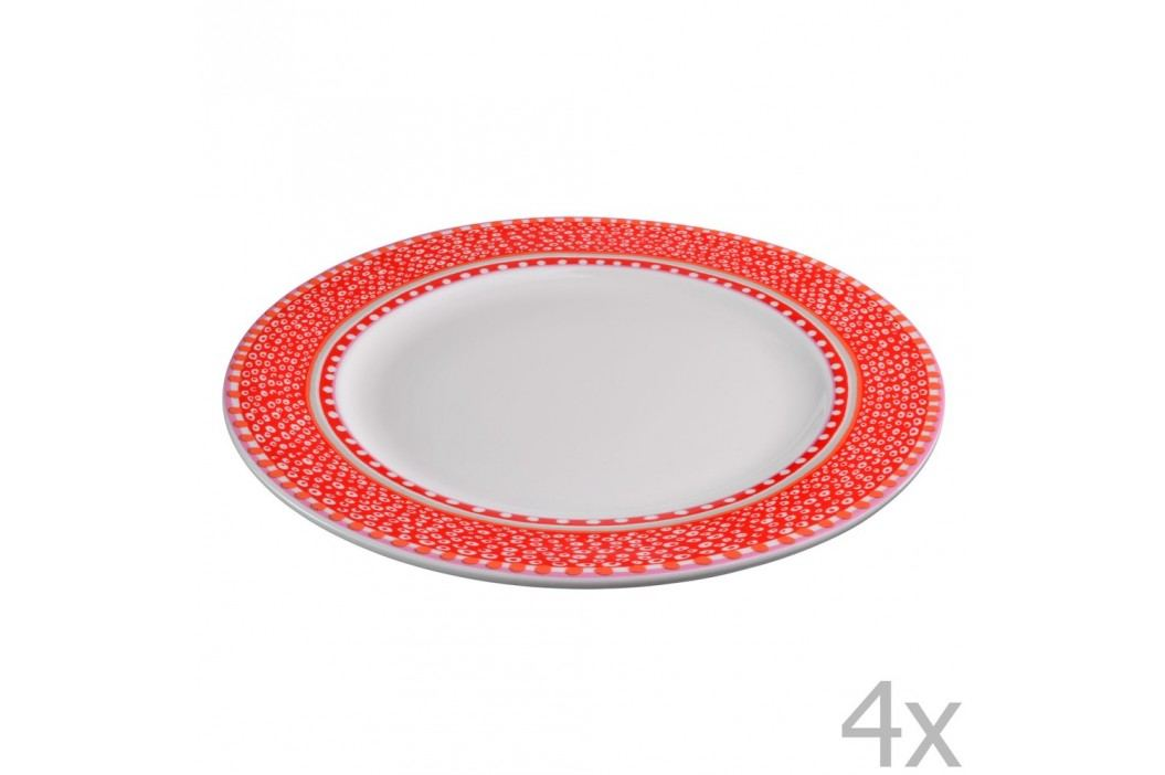 Set 4 farfurii din porțelan Oilily 27 cm, roșu Farfurii