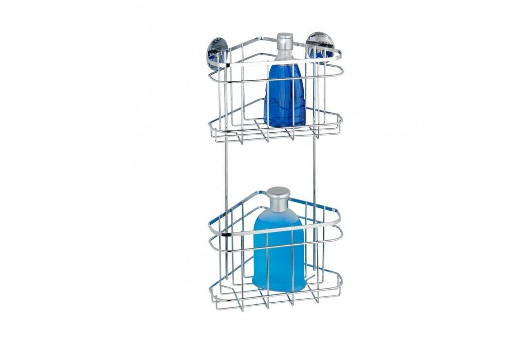 Poliță de colț autoadezivă cu două etaje Wenko Turbo-Loc, până la 40 kg Accesoriii pentru baie