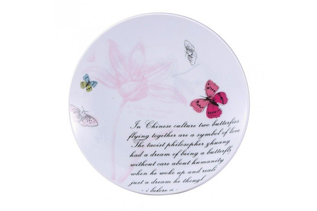 Farfurie desert Bergner Pink Butterfly, 19 cm Farfurii