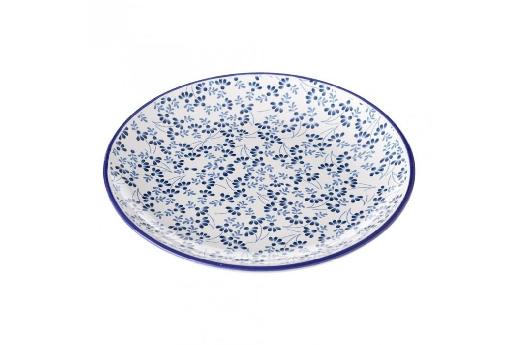 Farfurie Unimasa Meadow, albastru - alb Farfurii