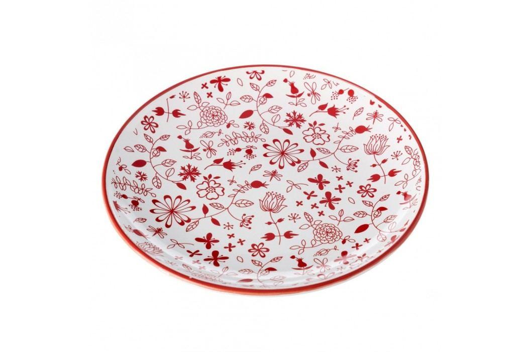 Farfurie Unimasa Meadow, roșu - alb Farfurii
