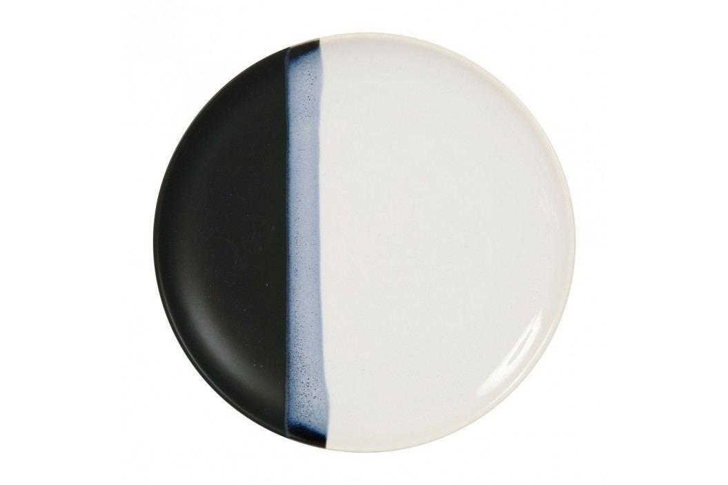 Farfurie ceramică Sema Ekume, 27 cm, negru - alb Farfurii