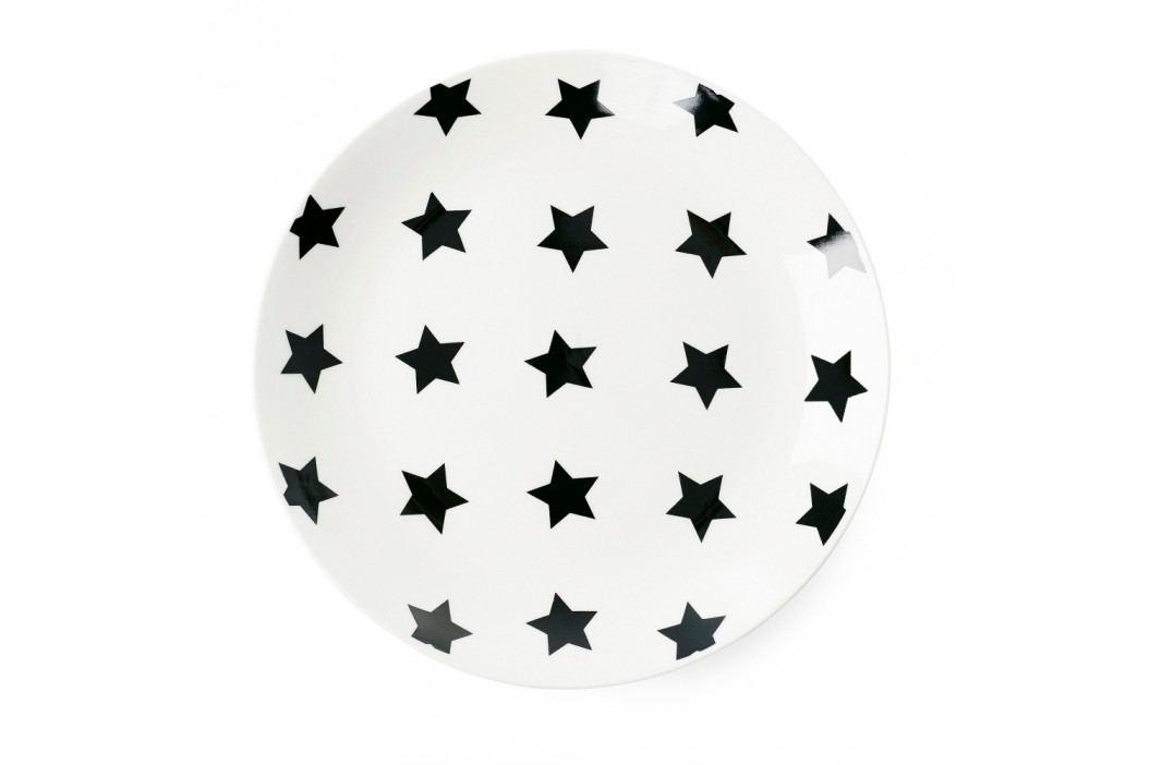 Farfurie ceramică Miss Étoile Black Stars, ⌀ 17 cm Farfurii