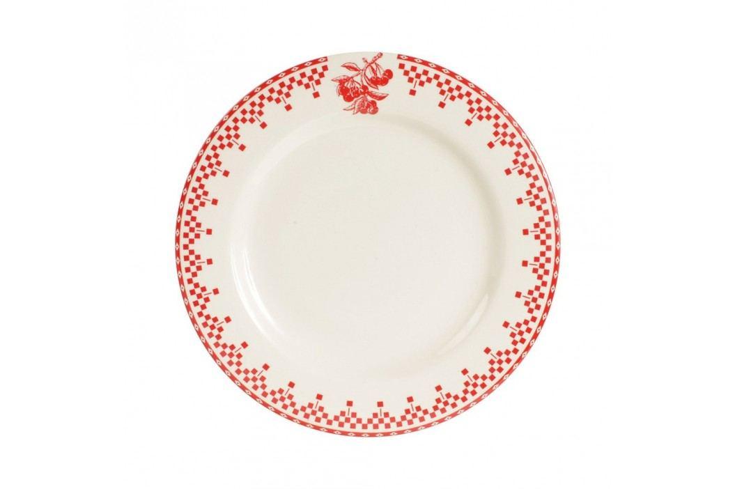 Farfurie Comptoir de Famille Damier, 22 cm, roșu - alb Farfurii