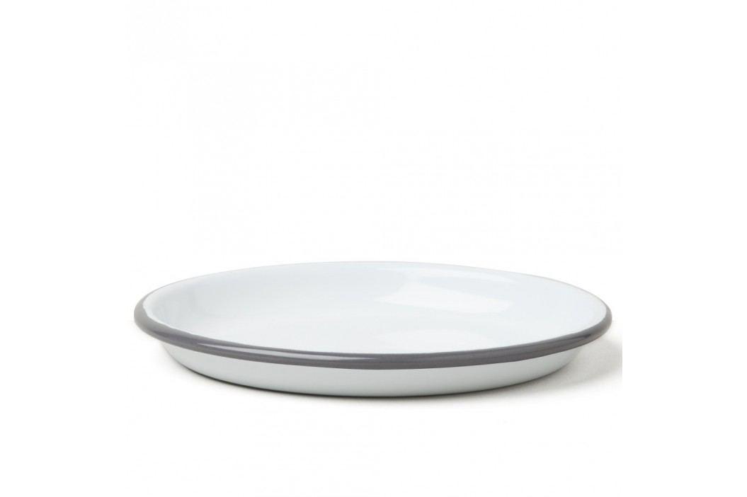 Farfurie smălțuită Falcon Enamelware, Ø 14 cm, alb-gri Farfurii