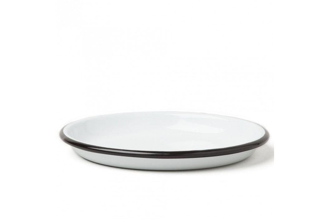 Farfurie smălțuită Falcon Enamelware, Ø 14 cm, alb-negru Farfurii