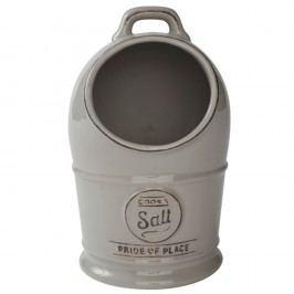 Recipient din ceramică pentru sare T&G Woodware Pride of Place, gri