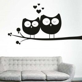 Autocolant pentru perete cu bufnițe Wallvinil Îndrăgostite, partea stângă