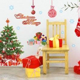 Autocolante Crăciun Fanastick Santa, Balls and Tree