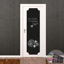 Set autocolant tip tablă de scris și cretă lichidă Fanastick Giant Chalkboard