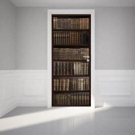 Autocolant adeziv pentru ușă Ambiance Bookshelf