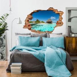 Autocolant Ambiance Beach Villas on tropical island