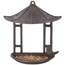 Suport suspendat semicircular pentru hrănit păsări Esschert Design, înălțime 24,4 cm