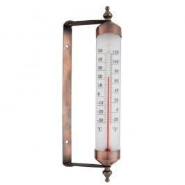 Termometru pentru fereastră Esschert Design, înălțime 25 cm, galben bronz