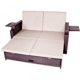 Canapea extensibilă pentru grădină cu spațiu depozitare ADDU Monaco