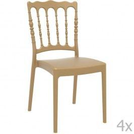 Set 4 scaune grădină Resol Napoleon, bej