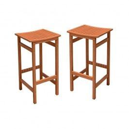 Set 2 scaune de bar din lemn de eucalipt ADDU Palmdale