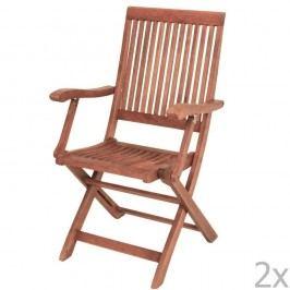Set 2 scaune de grădină din lemn Bangkirai ADDU Nashville