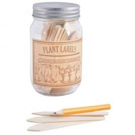 Set borcan și etichete pentru 40 de plante Esschert Design Heal