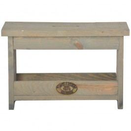 Băncuță din lemn de pin Esschert Design, înălțime 25,4 cm
