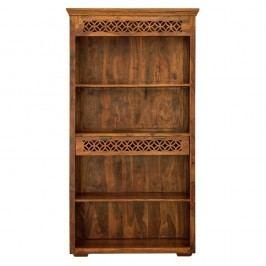Bibliotecă din lemn de palisandru cu sertar Massive Home Sweet