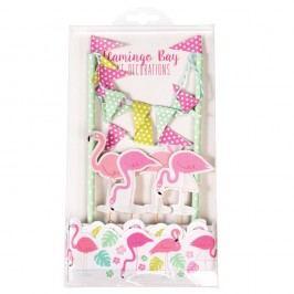 Set pentru decorat tortul Rex London Flamingo Bay
