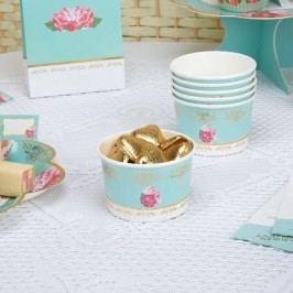 Set 8 cupe din hârtie pentru dulciuri Neviti Eternal Rose