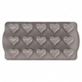 Formă din silicon pentru bomboane în formă de inimă Sabichi Cone, gri