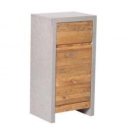 Dulap mic pentru baie din lemn de pin Woodking Stonewall, gri