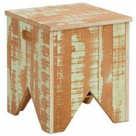 Scăunel cu spațiu de depozitare din lemn masiv de pin Støraa Marilyn, verde
