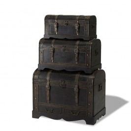 Set 3 cutii din lemn decorative Knuds Trunks Shadow