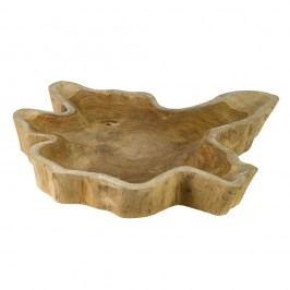 Bol decorativ din lemn de tec pols potten Hollow