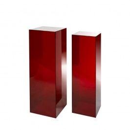 Set 2 piedestaluri pols potten Rylic, roșu