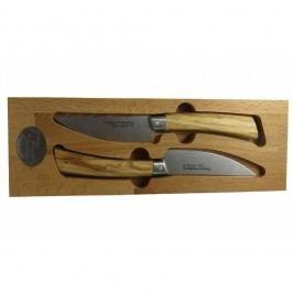 Set 2 cuțite din inox în cutie din lemn Jean Dubost Handmade