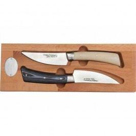 Set 2 cuțite din inox în cutie din lemn Jean Dubost