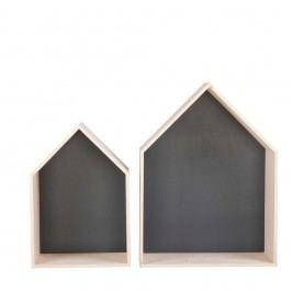 Set 2 rafturi Nørdifra House, negru