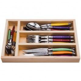 Set 24 tacâmuri în cutie din lemn Jean Dubost Fruity