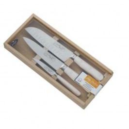 Set 3 cuțite din inox, suport din lemn de stejar Jean Dubost