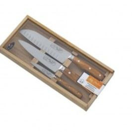 Set 3 cuțite din inox, suport din lemn de măslin Jean Dubost