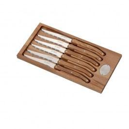 Set 6 cuțite din inox, suport din lemn Jean Dubost