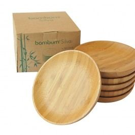 Set 6 suporturi pentru pahare din bambus Bambum Silva