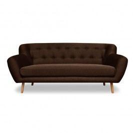 Canapea cu 3 locuri Cosmopolitan design London, maro închis