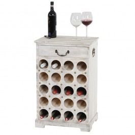 Suport pentru 20 sticle de vin Mendler Shabby, alb