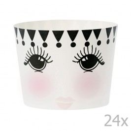 Set 24 coșulețe pentru copt Miss Étoile Eyes And Dots