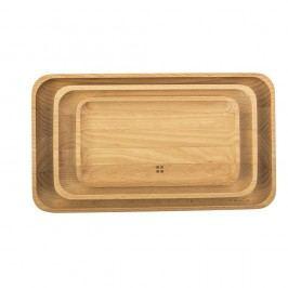Set 3 tăvi lemn Flow