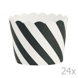 Set 24 coșulețe copt Miss Étoile Black Diagonal