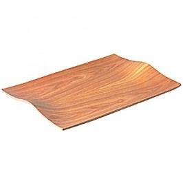 Platou antiderapant, din lemn Kinto Nonslip Light, 44x31 cm