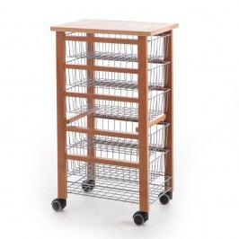 Sistem mobil de stocare din lemn de fag Arredamenti Italia Oliver